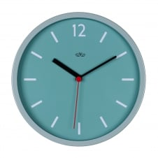 Wild Wood Retro Style Wall Clock 30cm - French Blue