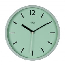 Wild Wood Retro Style Wall Clock 30cm - Swedish Green