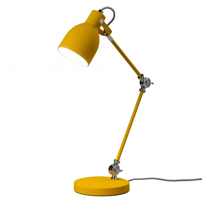 Wild & Wolf Wild Wood Task Desk/Table Lamp - English Mustard