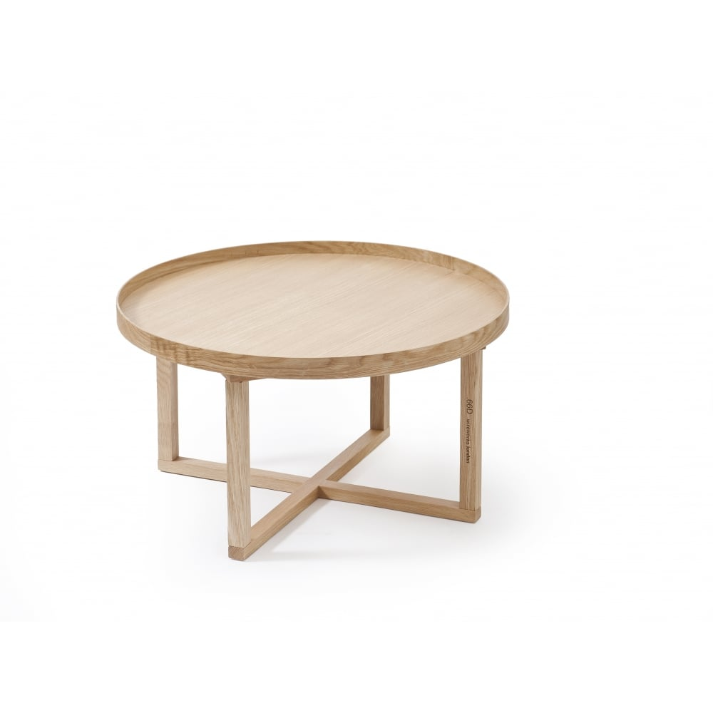 Black Oak Round Coffee Table: Wireworks 66D Round Coffee Table