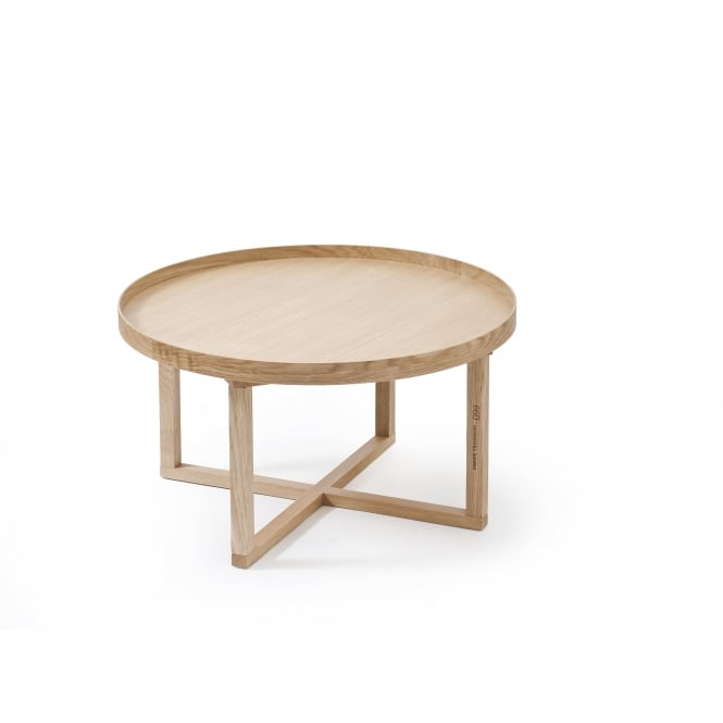 Wireworks 66D Round Coffee Table - Oak