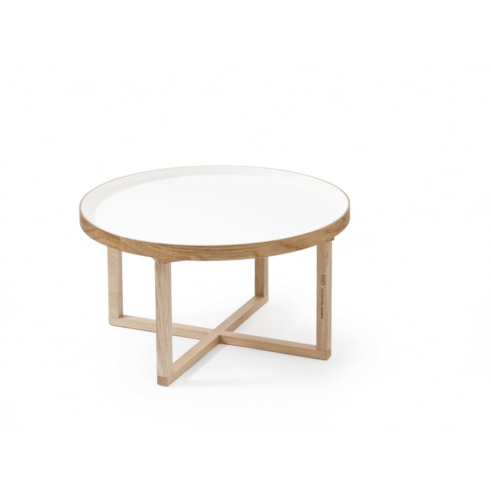 Wireworks 66d Round Coffee Table White