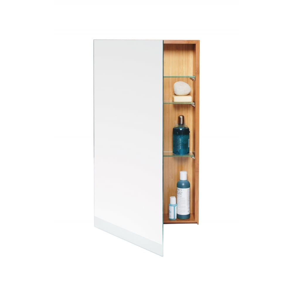 Wireworks Arena Single Bathroom Cabinet 700 | Bamboo | Black by Design