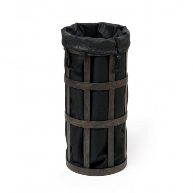 Wireworks Cage Laundry Basket Dark Oak Black Black By