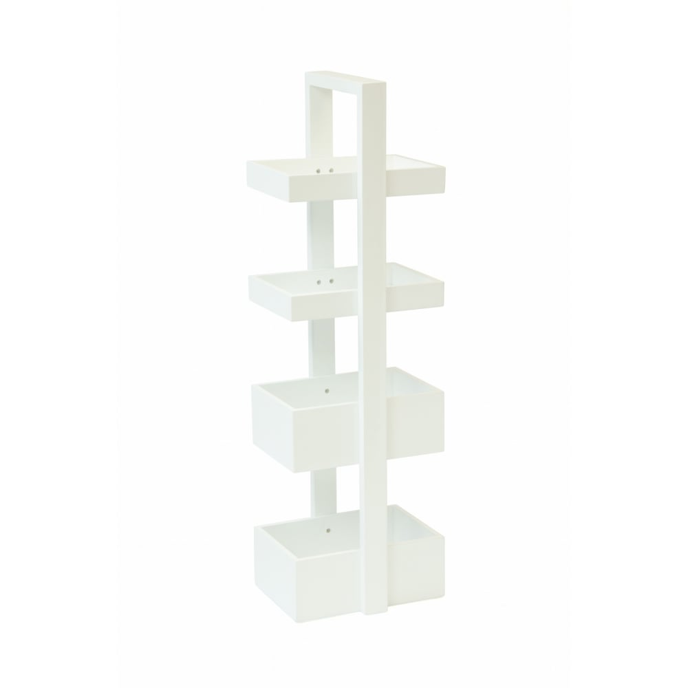 Wireworks mount fuji bathroom caddy white black by design for All bathroom accessories