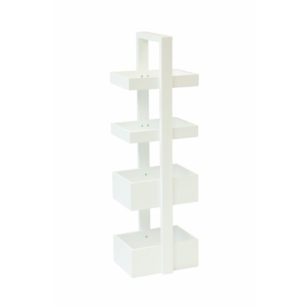 Wireworks Mount Fuji Bathroom Caddy | White | Black by Design