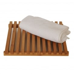 Slatted Shower Mat - Arena Bamboo