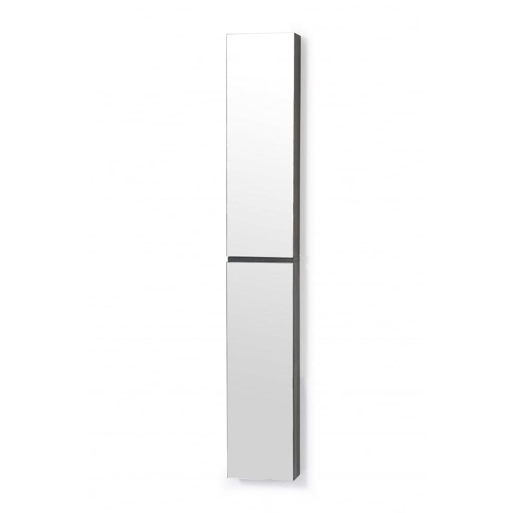 Wireworks Zone Bathroom Cabinet - Tall 1622   Dark Oak   Black by Design