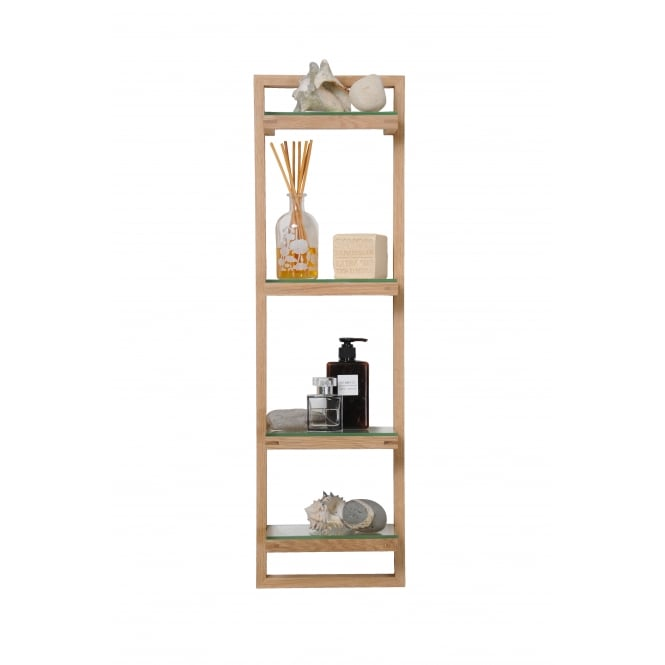 Wireworks Zone Bathroom Wall Shelf - Oak