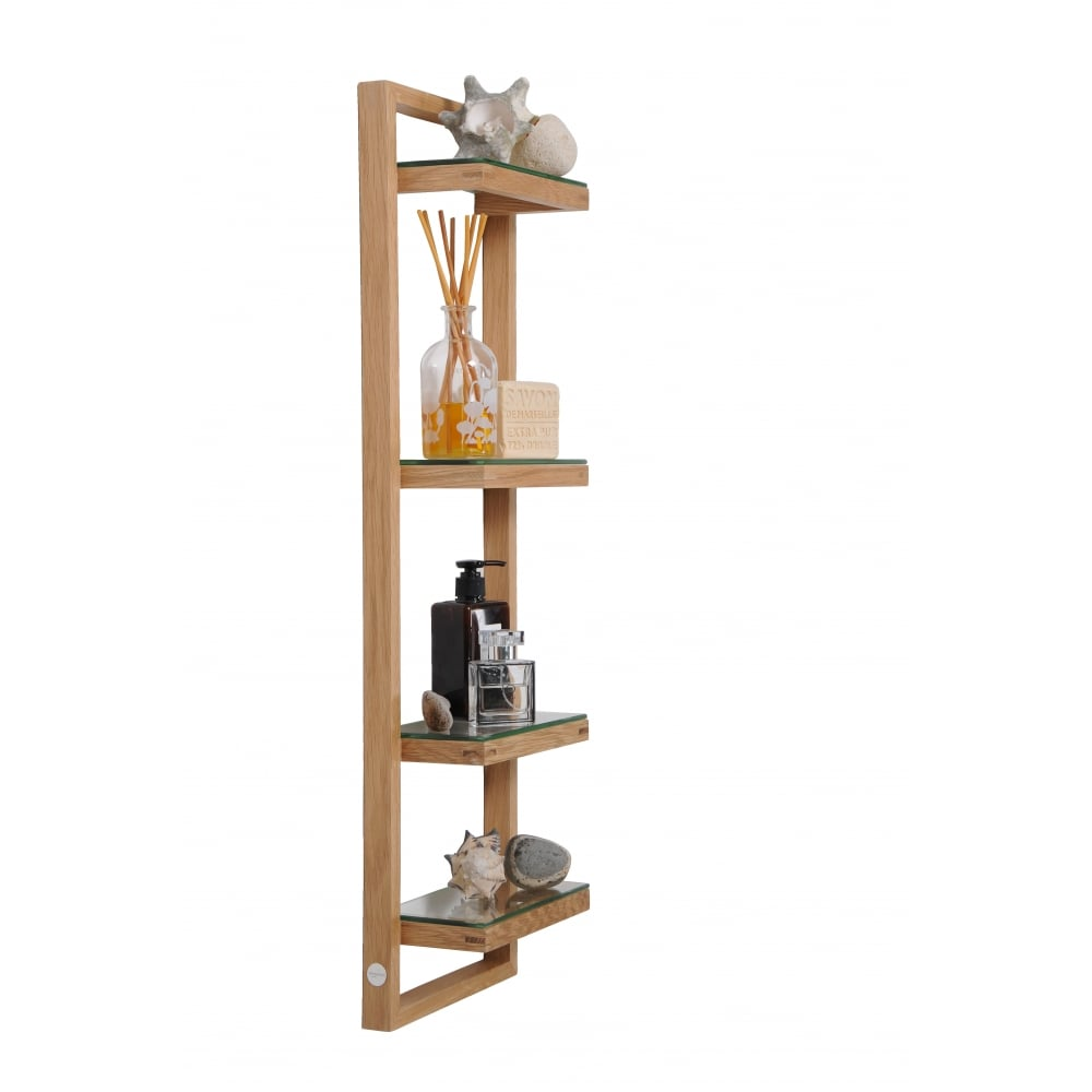 Wireworks zone bathroom wall shelf oak black by design zone bathroom wall shelf oak amipublicfo Gallery