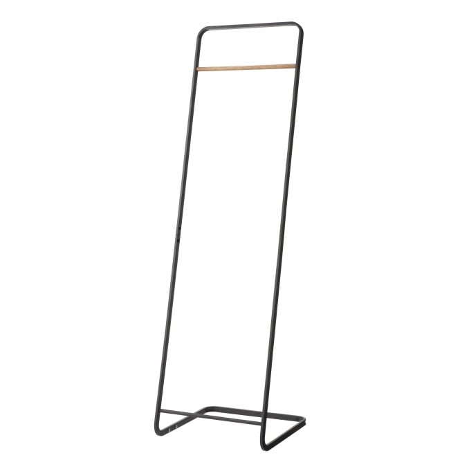 Yamazaki Tower Freestanding Clothes Rail/Coat Rack - Black