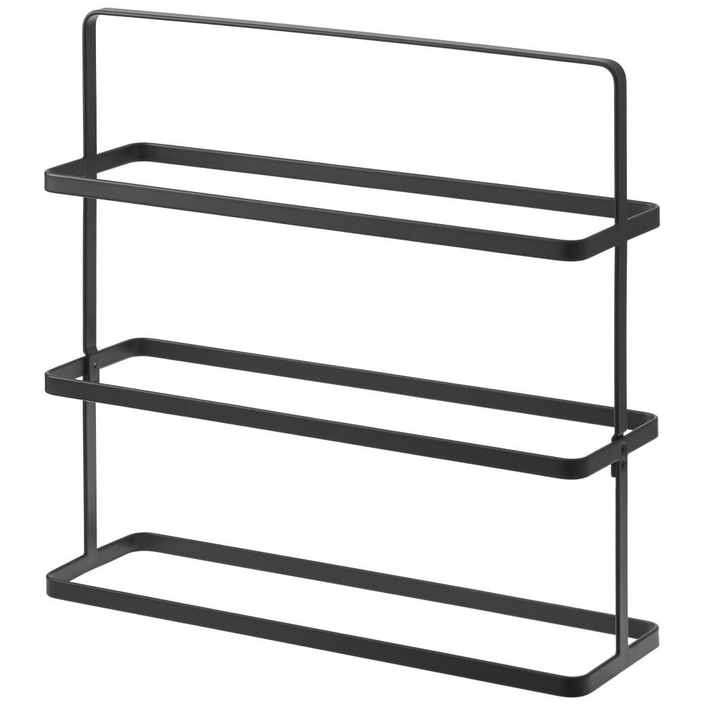 yamazaki tower steel shoe rack 3 tier black