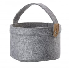 Craft Felt Basket - Large - Grey