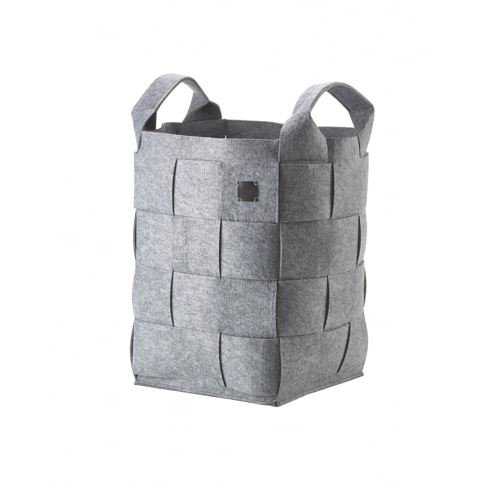 Hide Felt Laundry/Storage Basket - Large - Grey  sc 1 st  Black By Design & Zone Felt Hide Laundry Basket | Large | Grey | Black by Design