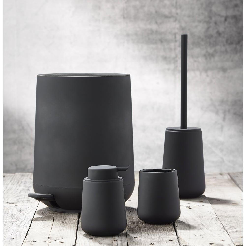 Zone Nova Pedal Bin 5L Black Black by Design