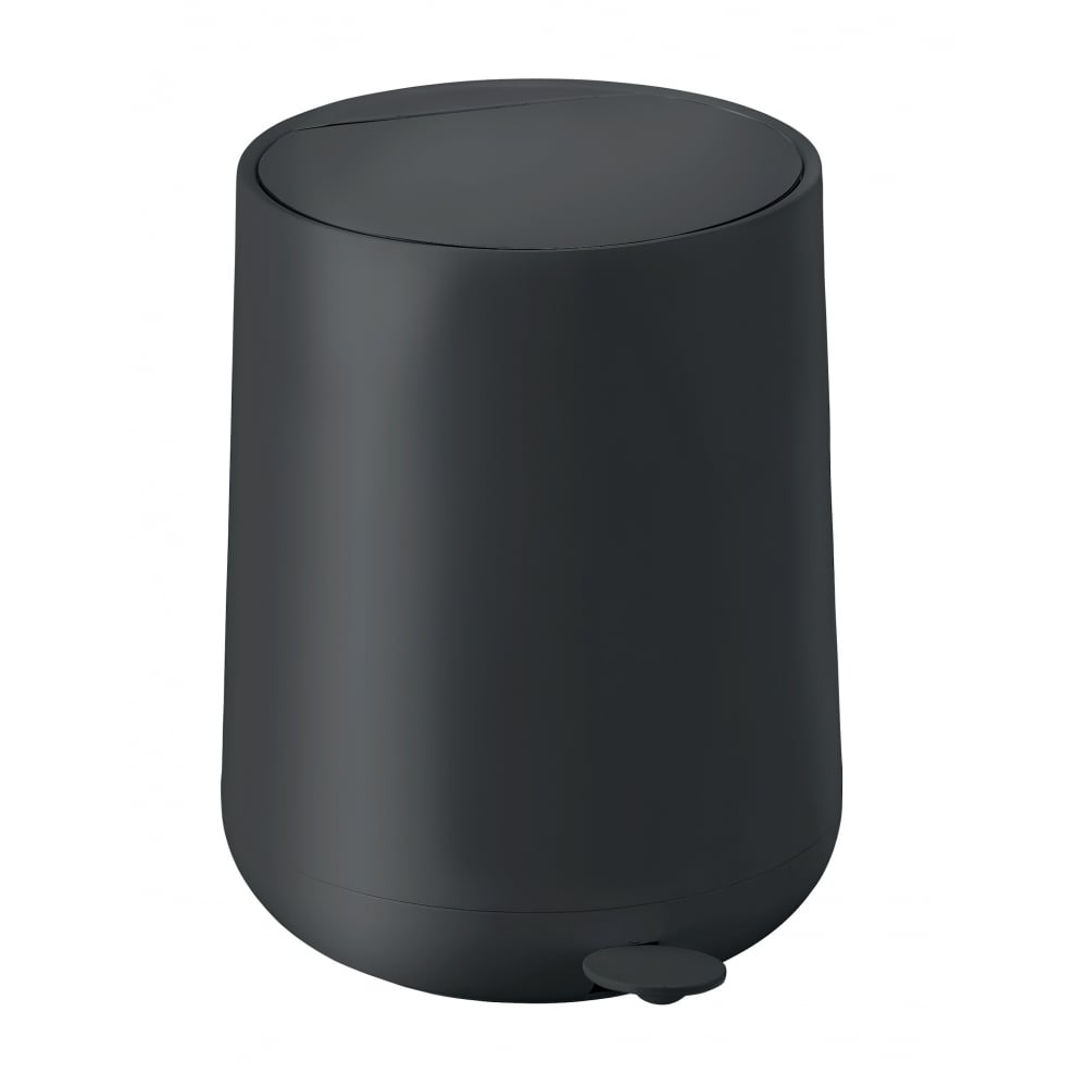 Zone nova pedal bin 5l black black by design for Zone bathroom accessories