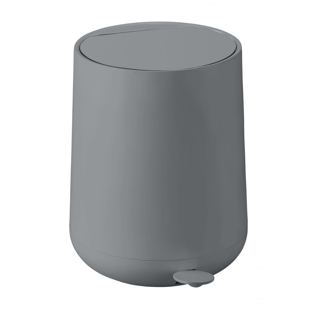 White Bathroom Bin zone nova pedal bin | 5l | grey | blackdesign