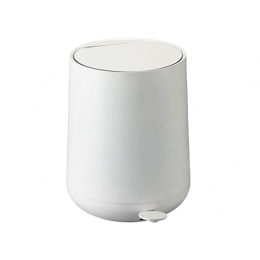White Bathroom Bin zone nova pedal bin | 5l | white | blackdesign