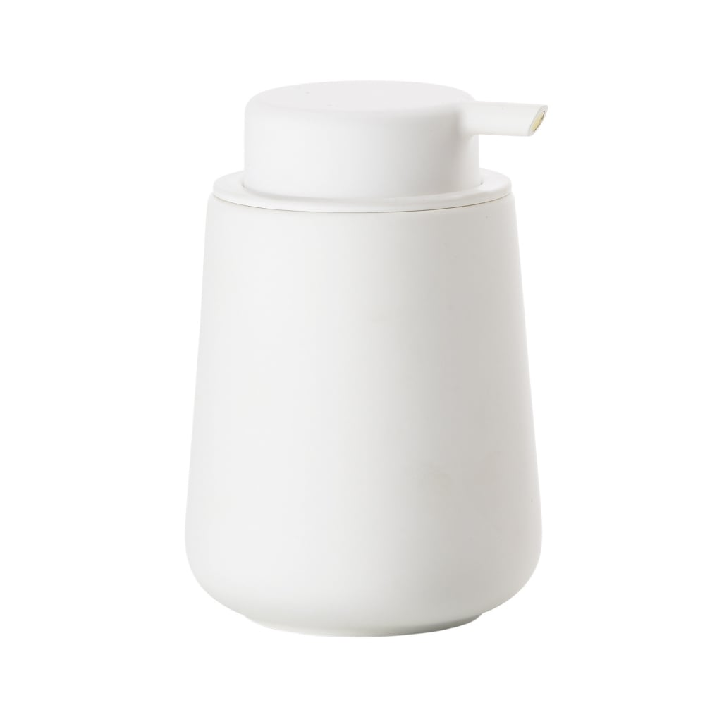 Zone nova one soap dispenser white black by design for Bathroom soap dispensers bath accessories