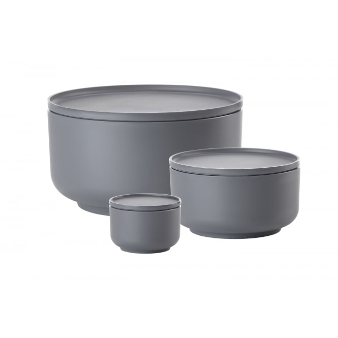 Zone Denmark Peili 3-in-1 Bowls and Platters - Set of 3 - Cool Grey