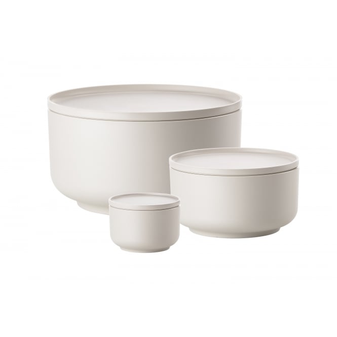 Zone Denmark Peili 3-in-1 Bowls and Platters - Set of 3 - Warm Grey